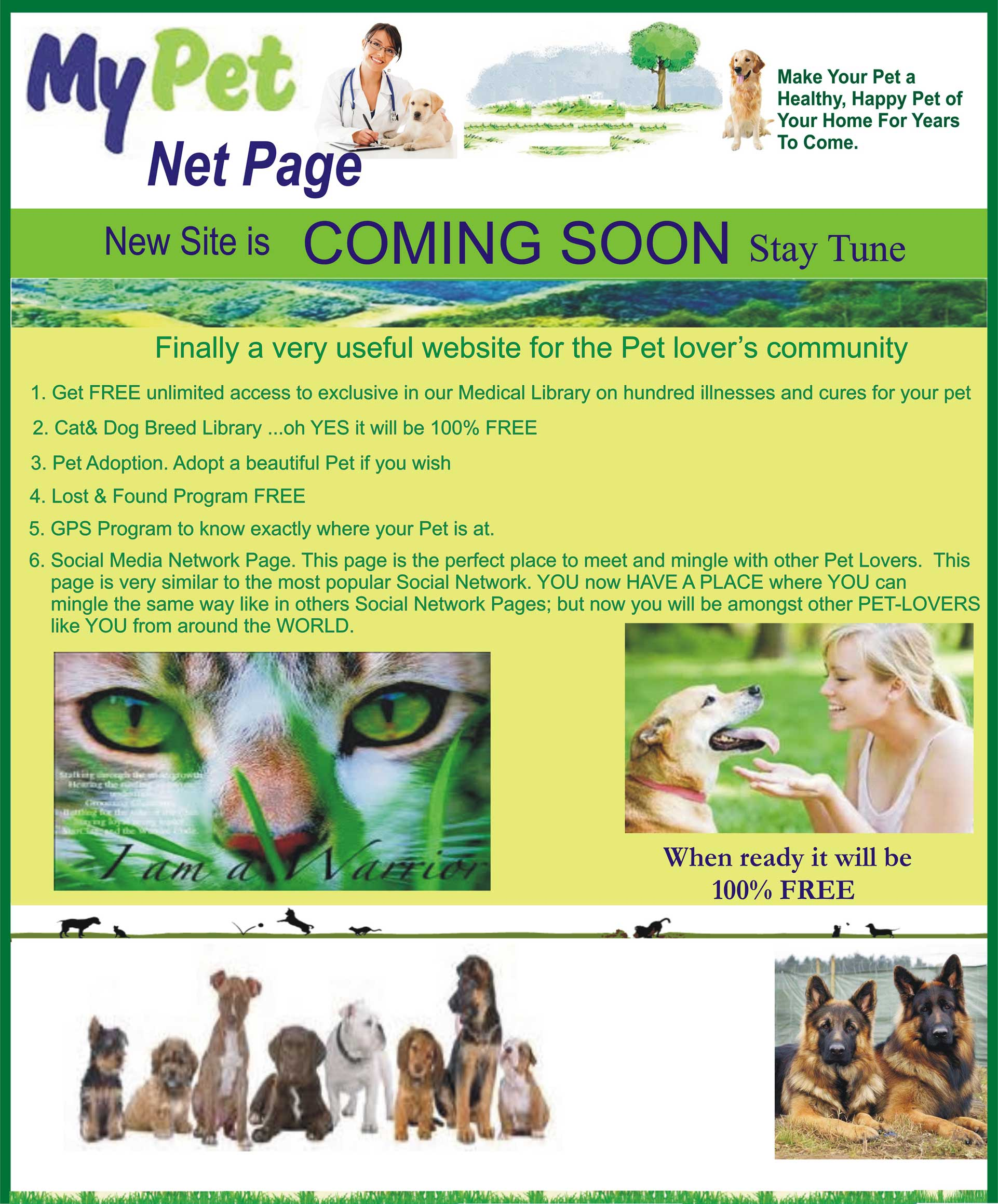 My Pet Net Page